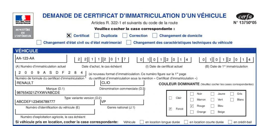 Comment bien remplir sa demande de certificat d'immatriculation ?
