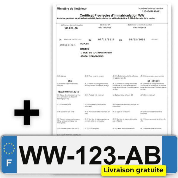 CPI ww et plaques d'immatriculation