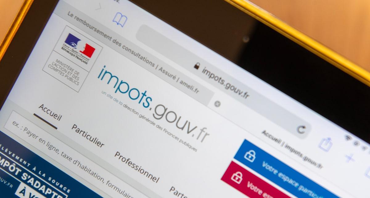 Une demande de quitus fiscal en ligne sur le site des impôts